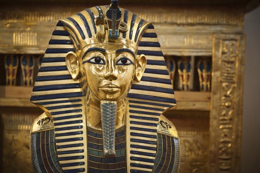EGYPTIAN GOLD PHARAOH HEAD