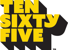 TEN SIXTY FIVE BLOCK LETTERING YELLOW